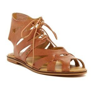 Anthropologie Latigo leather lace up sandals.